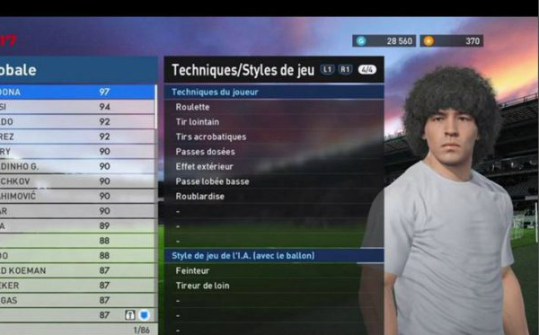 Maradona no game da Konami
