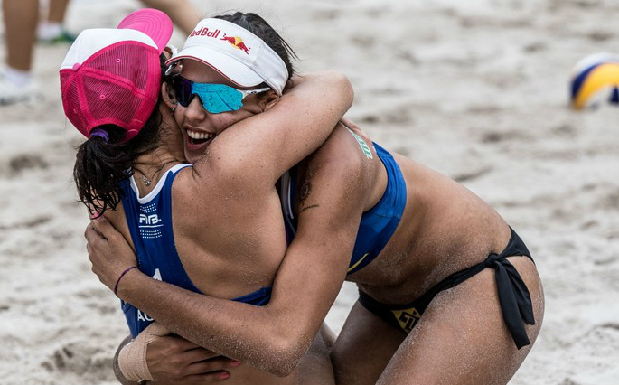 Ágatha e Duda, dupla de vôlei de praia