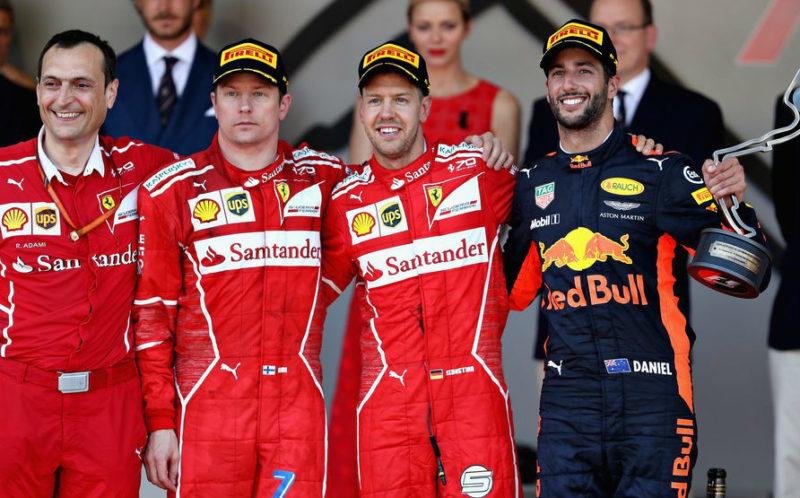 Pódio do Grande Prêmio de Mônaco de Fórmula 1 de 2017