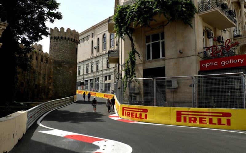 Circuito de Baku no Azerbaijão GP de Fórmula 1