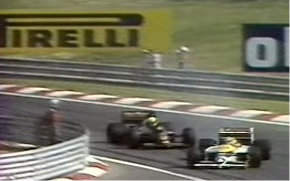 Piquet ultrapassa Senna na Fórmula 1