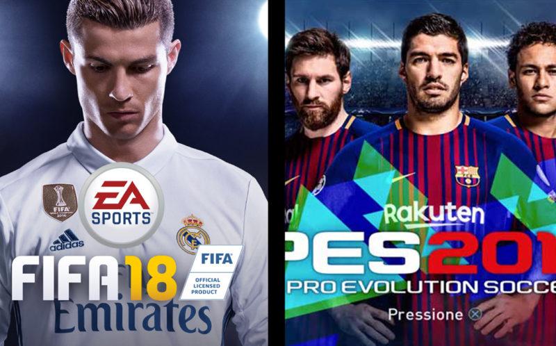 FIFA 18 versus PES 2018 briga de games nos gramados virtuais