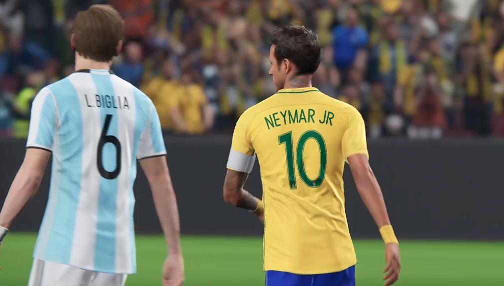 Argentina e Brasil no game