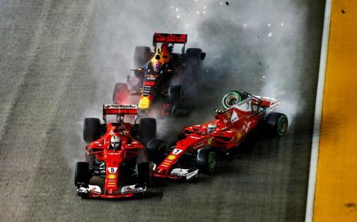Fórmula 1 - Os 3 patetas Vettel, Raikkonen e Verstappen