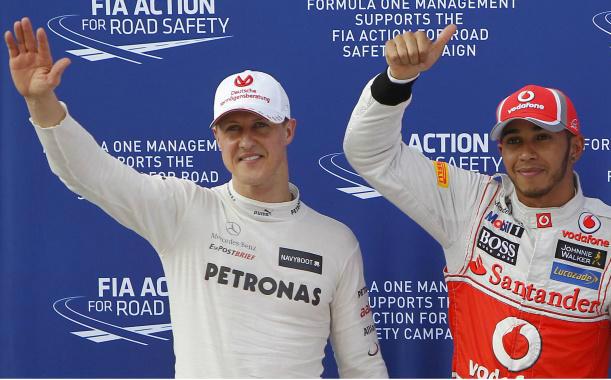 Fórmula 1 - schumacher e hamilton